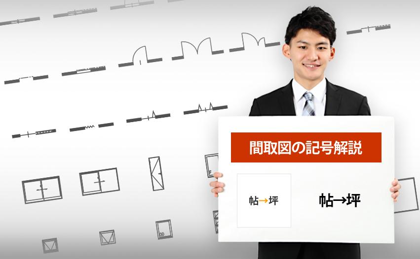 帖→坪の記号