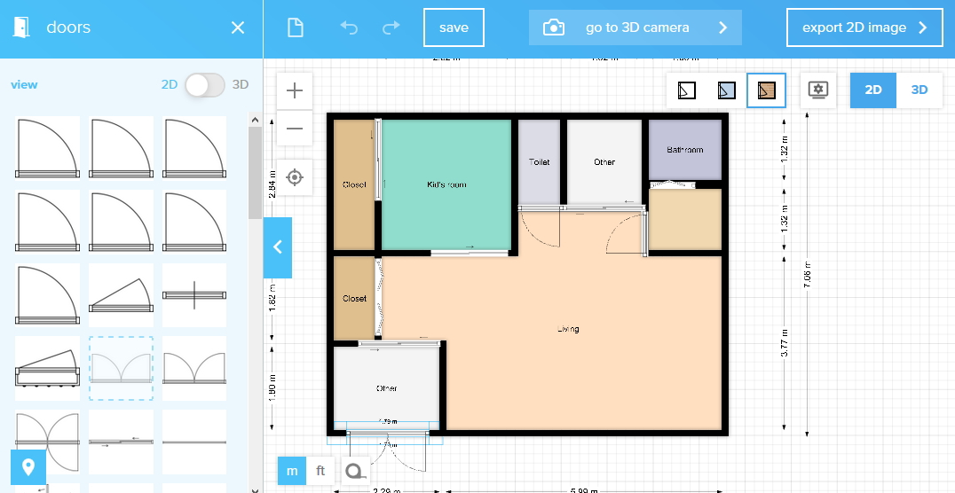 floor planner 建具の配置