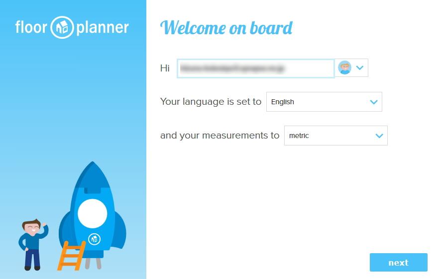 floor planner ユーザー名と言語設定