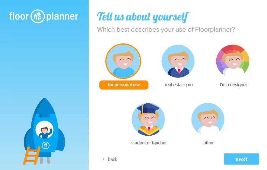 floor planner ユーザーステータスの選択