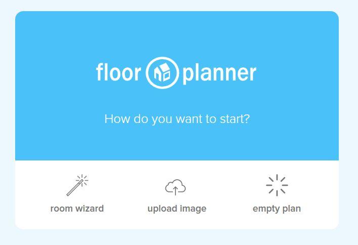 floor planner 間取り作成方法の選択画面