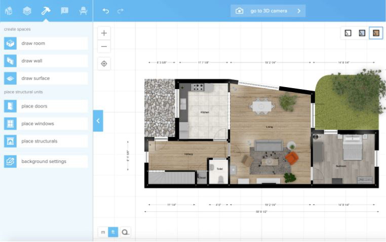 『floorplanner』で作成した間取図サンプル①