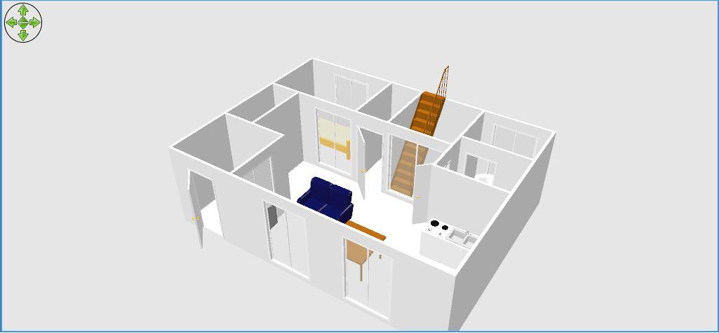 Sweet Home 3D 3D表示