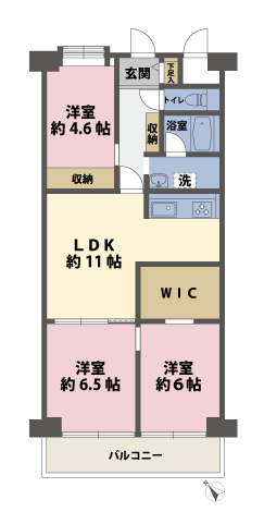 3LDKの間取図